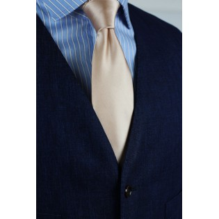 Champagne Hued Neck Tie Styled
