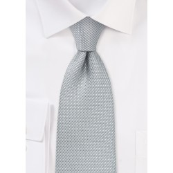 Silver Tie with Micro Diamond Checks