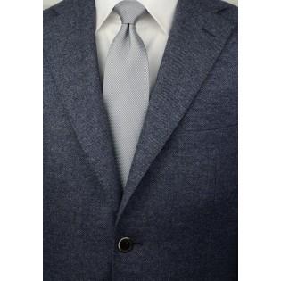 Silver Tie with Micro Diamond Checks Styled