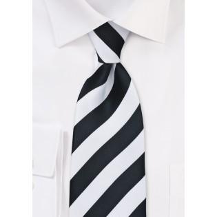 Classic Black and White Tie