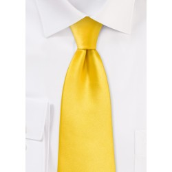 Sunbeam Yellow Necktie in XL Length