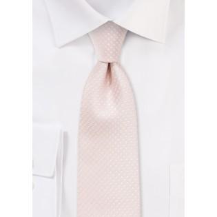 Blush Pink Pin Dot Tie