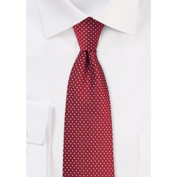 Cherry Red Pin Dot Tie