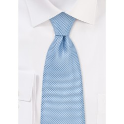 Extra Long Men's Tie in Sky Blue
