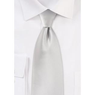 Light Platinum Silver XL Length Tie