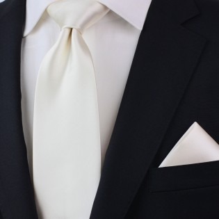 Formal Champagne Color Tie in XL Styled