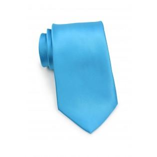 Solid Cyan Blue Tie