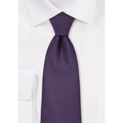 Grape Colored Tie in XL Length