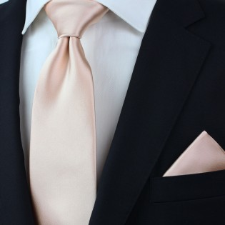 Solid Necktie in Antique Blush Styled