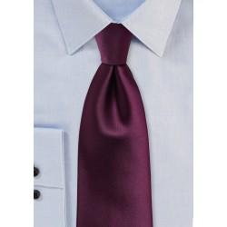 Plum Colored Mens Tie