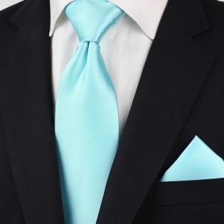 Light Turquoise Blue Necktie Styled