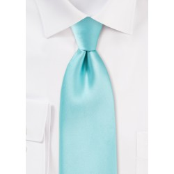 Light Turquoise Blue Kids Length Tie