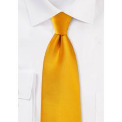 Men's Tie in Golden Saffron