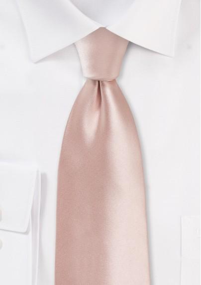 Peach Blush Pink Necktie