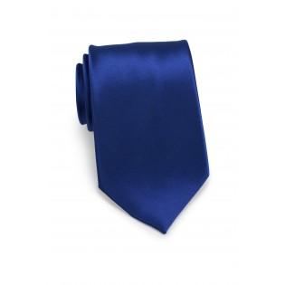 Solid Satin Necktie in Royal Blue