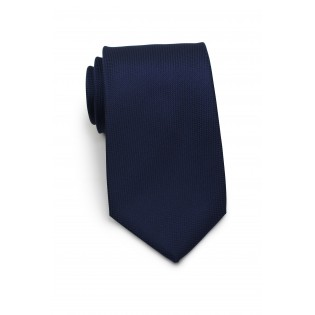 Diamond Embroidered Tie in Midnight Blue