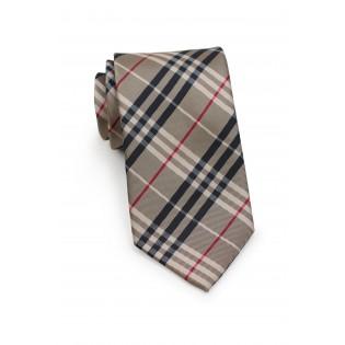 Golden Tan Tartan Plaid Necktie