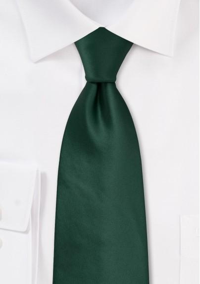 Solid Dark Green Tie