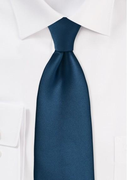 Dark Teal Blue Necktie in XL Size