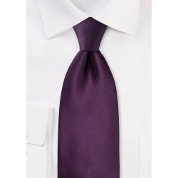 Solid Berry Purple Necktie