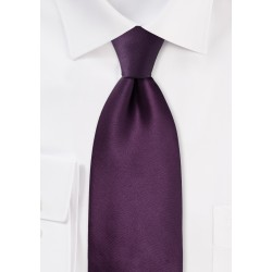 Solid Berry Purple Necktie