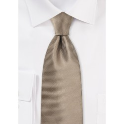 Textured Tie in Taupe