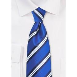 Kids Striped Tie in Horizon Blue