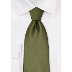 Solid Olive Green Kids Tie