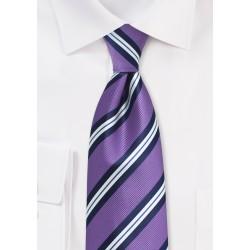 Lilac Repp Striped Necktie