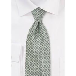 Diamond Patterned Tie in Mint Green