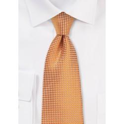 Tangerine Textured Tie in XL Length