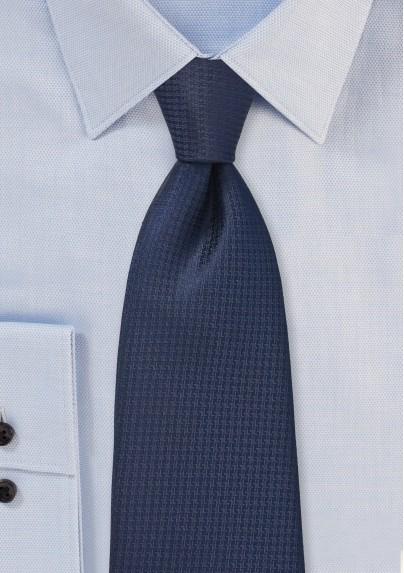 Micro Check Tie in Dark Midnight Blue