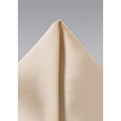 Solid Champagne Pocket Square