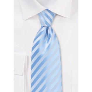 Solid Striped Tie in Capri Blue