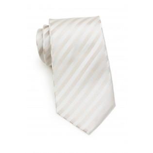 Ivory Silk Tie in XL Length