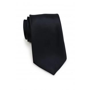 Men's Tie in Solid Black
