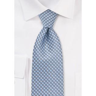 Modern Blue Diamond Patterned Tie