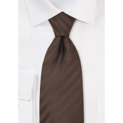 Chocolate Brown Mens Tie in XL