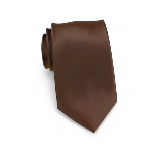Solid color ties - Coffe brown necktie