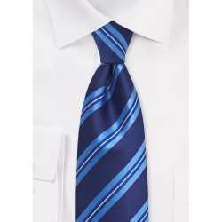 Blue Striped Tie for Men