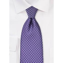 Electric Violet Gingham Tie