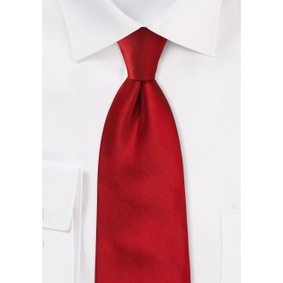 Red men's ties - Solid cherry red tie