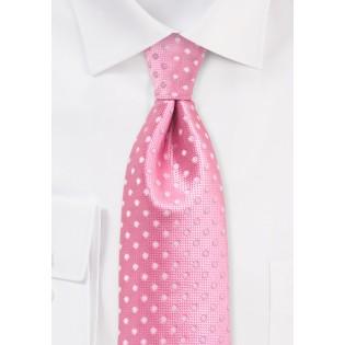 Flamingo Pink Polka Dot Kids Tie