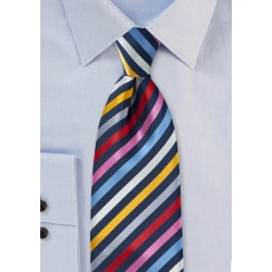 Multi Colored Necktie with Vibrant Stripes