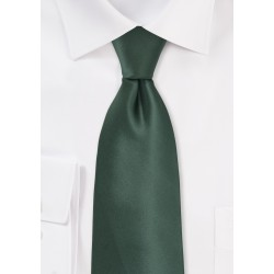 Pine Green Tie in XL Length