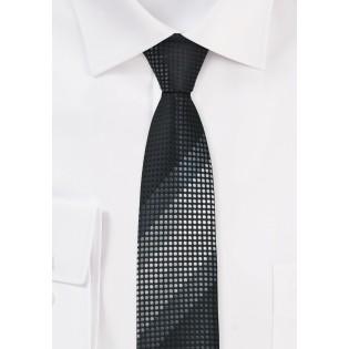 Skinny Tie in Blacks and Silvers