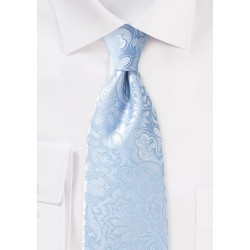 Paisley Tie in Winter Sky Blue