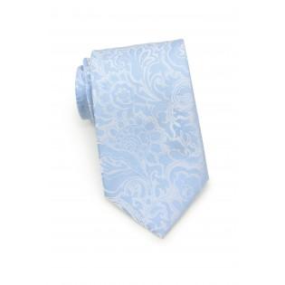 Paisley Tie in Winter Sky Blue