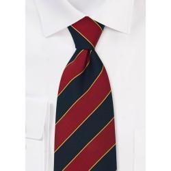 "Extra Long British Neck Ties -  Regimental Tie ""Oxford"" by Parsley"