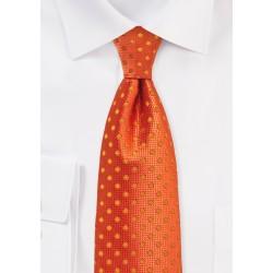 Fire Cracker Orange Polka Dot Necktie